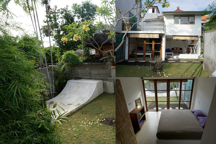 2BR house with garden/entire home/AC/Seminyak