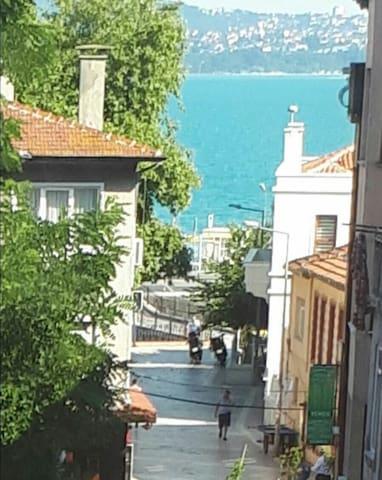 Historical landmark 40 metre to sea bosphorus view