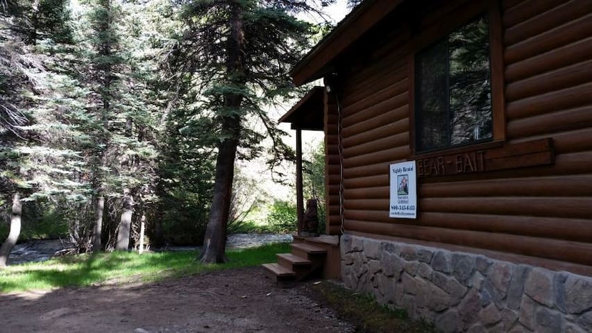 Bear Bait - Log Cabin on the River, Fire Pit, Picnic Area, WiFi, Satellite TV - Red River - Cabane