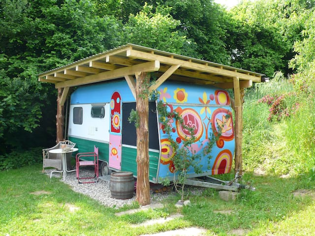 Lovely Camping trailer on a Permaculture farm