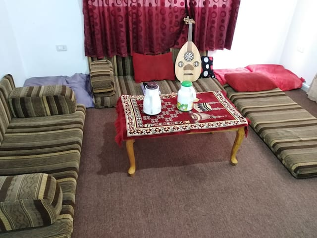 Traditional Arabic room with fantastic view