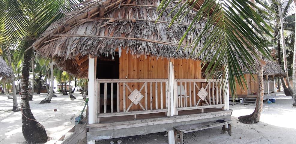Beachfront Wooden Cabin at the San Blas Islands
