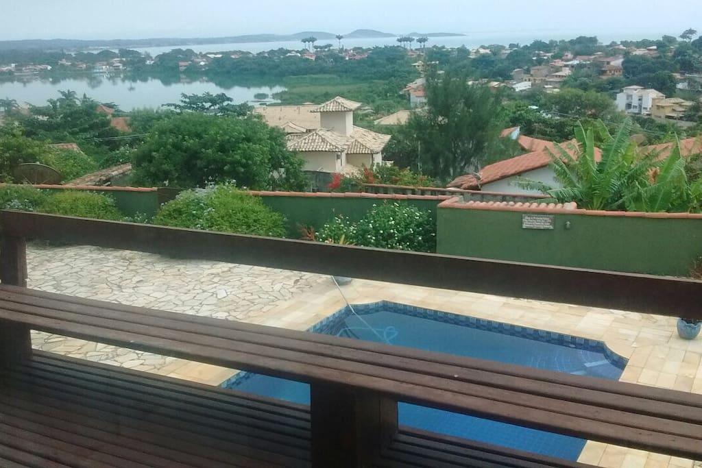 Vista da suite master para a Lagoa
