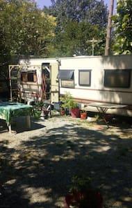 Loue caravane dans camping reposant