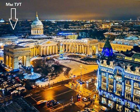 Центр. Квартира у воды и Банковского моста.