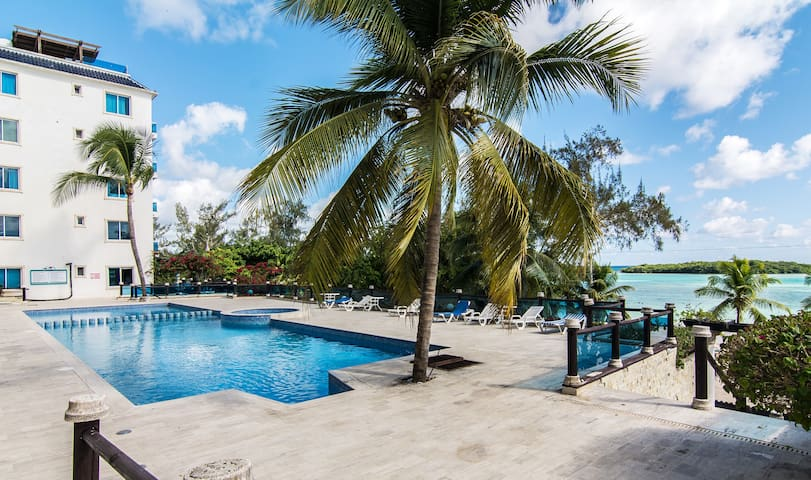 Beach front in Boca Chica- Dream Village Apt B 402