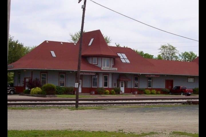 Hobo Hotel Train Depot Washington Iowa