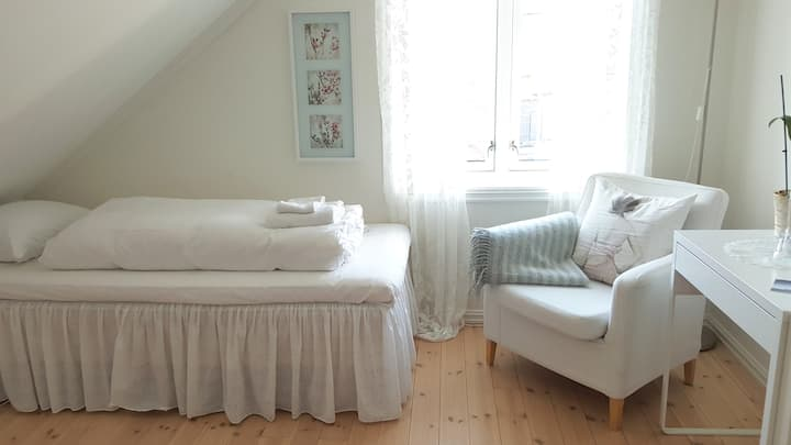 """""""White Room"""" in Ås Guesthouse - close to NMBU"""