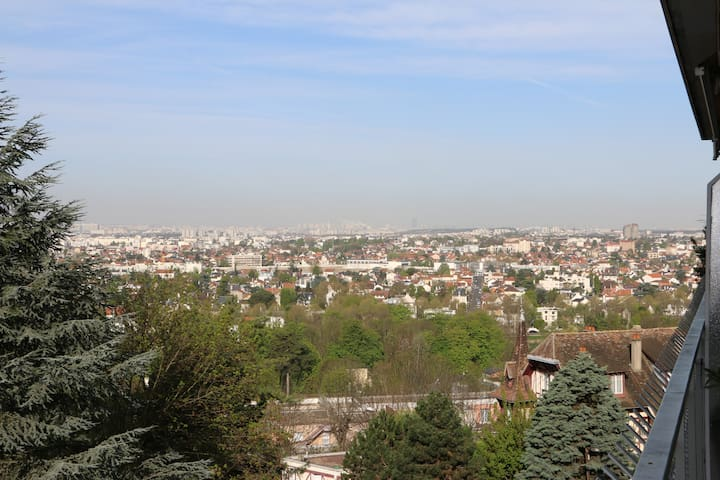 Very quiet flat 70 sqm for 2, lovely view on Paris - Chennevières-sur-Marne - Apartment