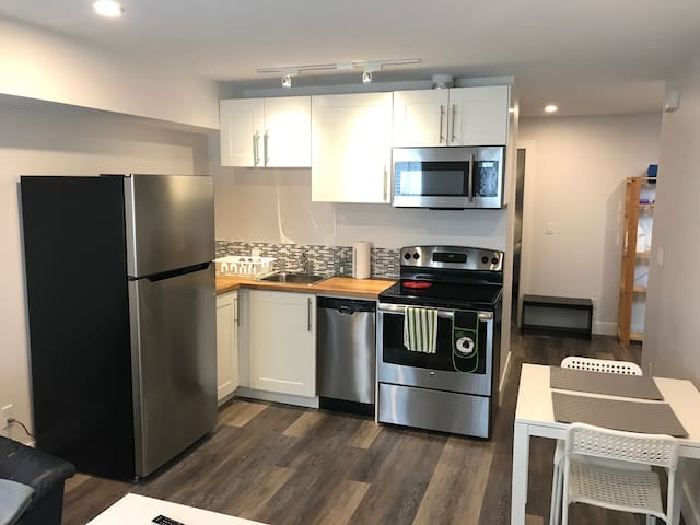 Walk to Stampede, bright and clean basement suite.