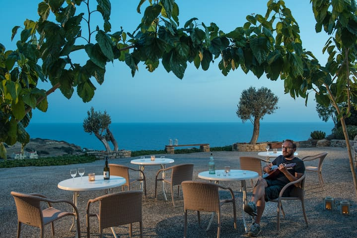 Vue exceptionnelle au sud de la Crete - Triopetra - Flat