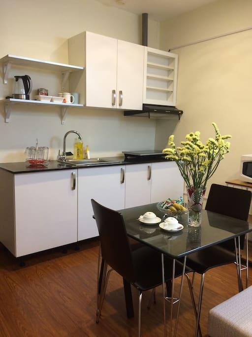 Fresh kitchen corner