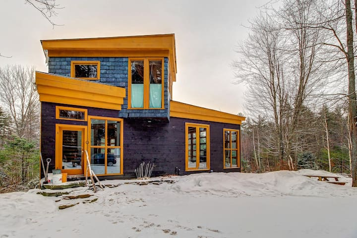 Modern cabin in the woods - upscale seclusion in tranquil setting, dogs welcome!