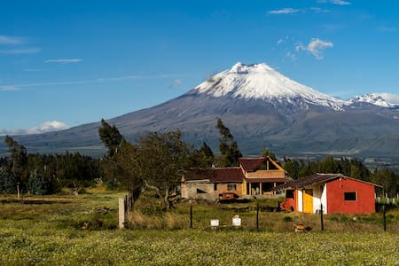 Guest house with views of the Cotopaxi Volcano