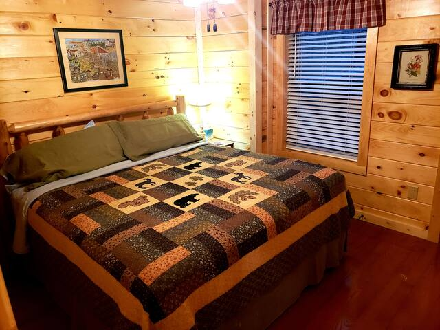 Lower Master Bedroom with Wildflower Meadow View