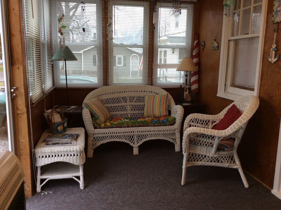 Enclosed sun porch