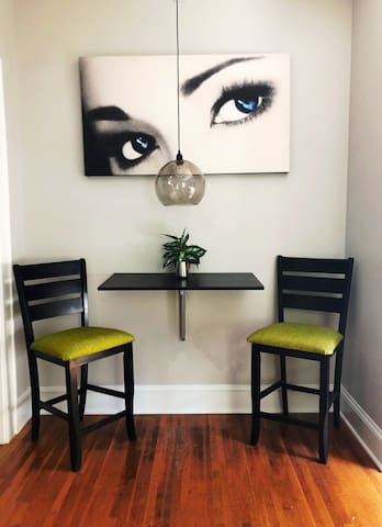 """Stylish and convenient dining area  """"Everything was excellent!"""" ~Andrzej, Poland"""