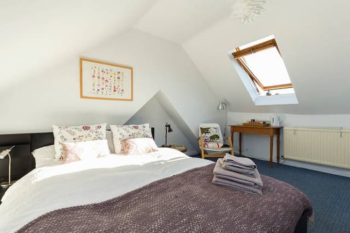 Loft room with ensuite, close to central London - London - House