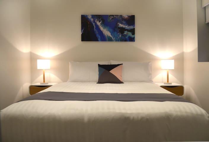 Queen Bedroom - Apartments 6 and 8