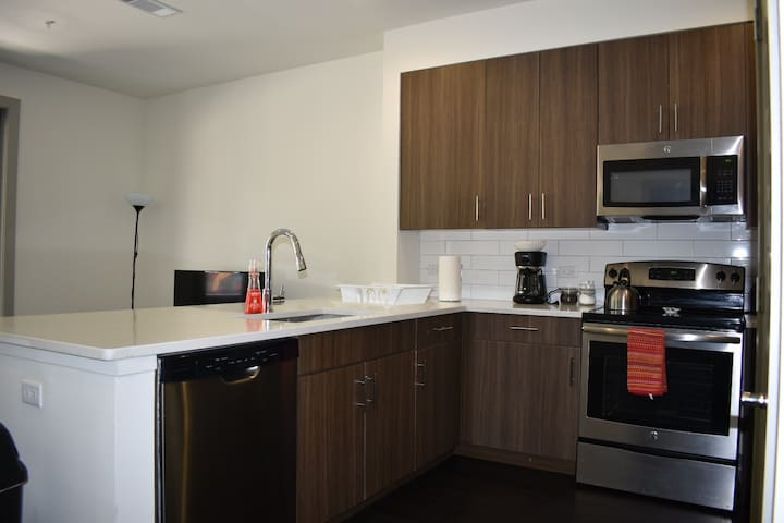 Chic Flat near DT Austin (7-10 minutes by car)