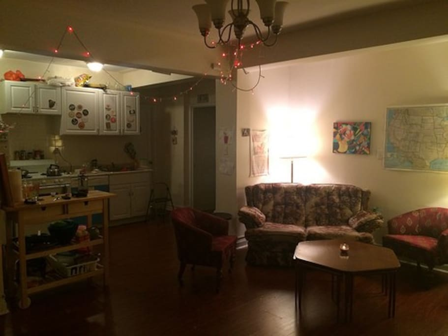 Our living room/Kitchen