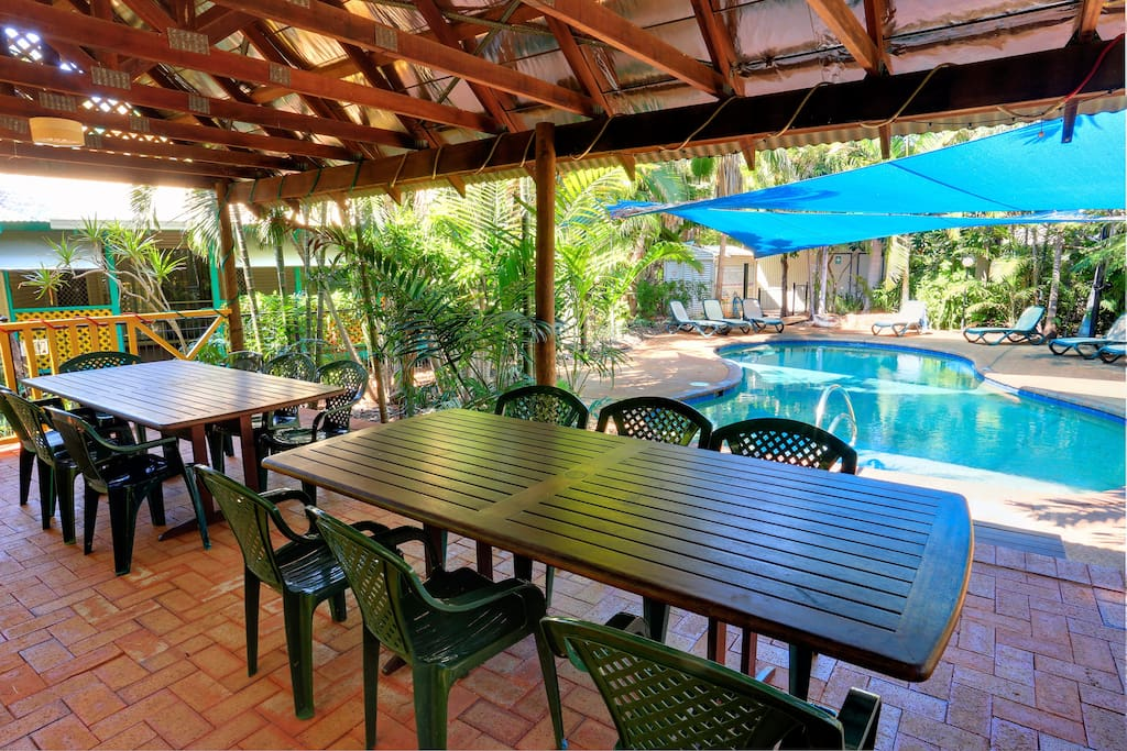 Gazebo and BBQ area for entertaining and relaxing