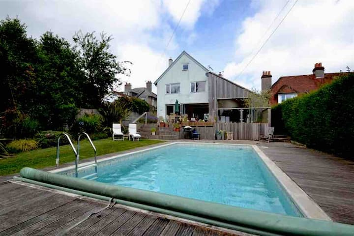 Studland 5 bed sea view,  pool, beach 20min walk