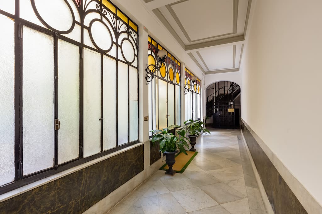 access to the elevator - our elegant building