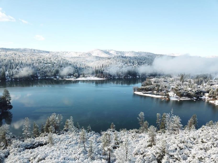 Pine Mountain Lake with a dusting of snow