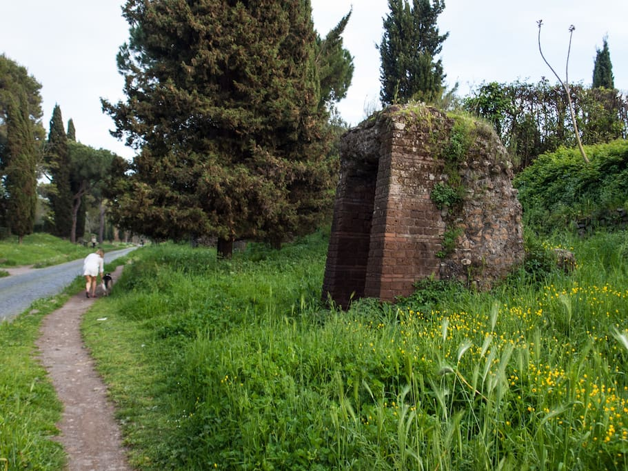 Via Appia Antica, 5 minute walk