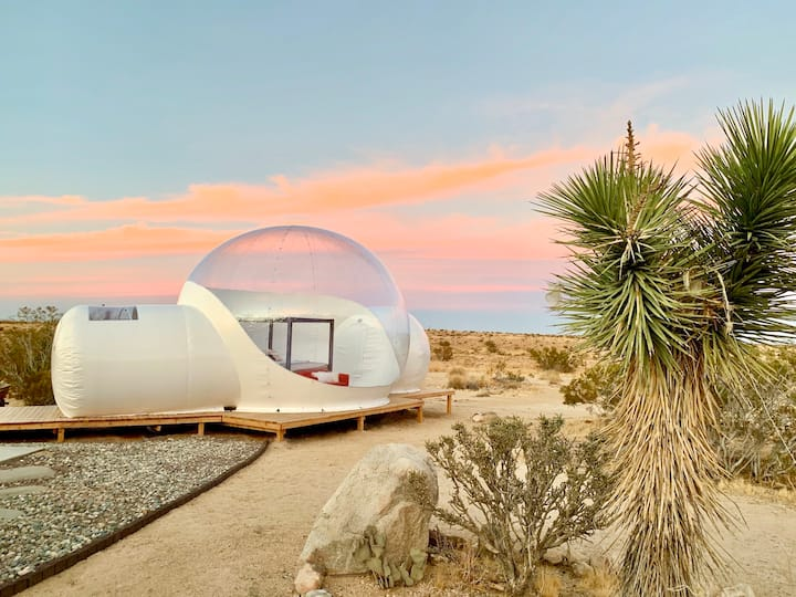 @ Marbella Lane - Joshua Tree Modern Stargazing Bubble-tent & House