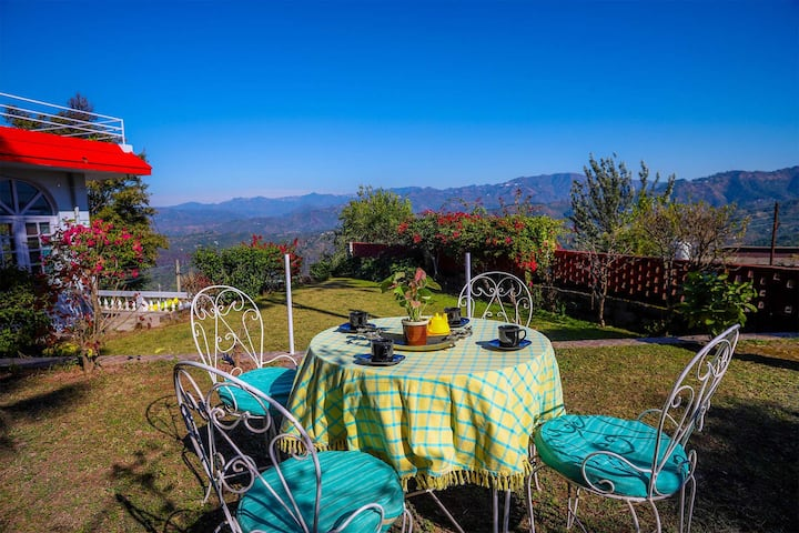 ❤2BR Cosy Cottage w/Pool table+BKFST+Lawn@Kasauli❤