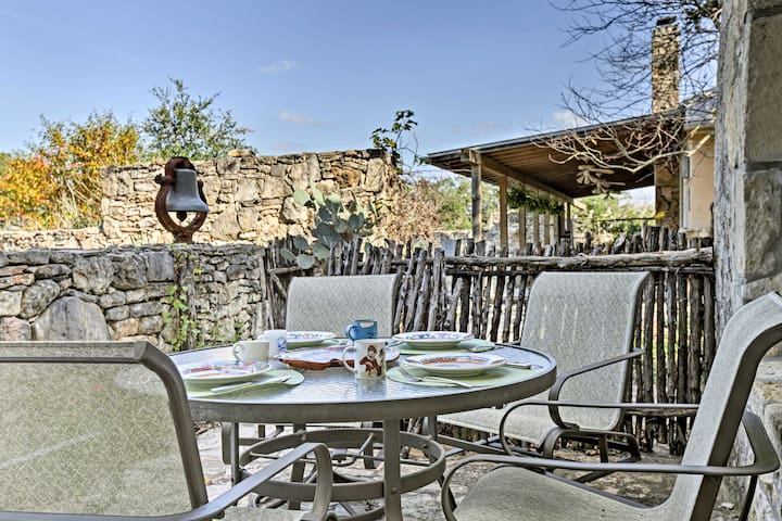 Enjoy afternoon and some fresh air from the patio.