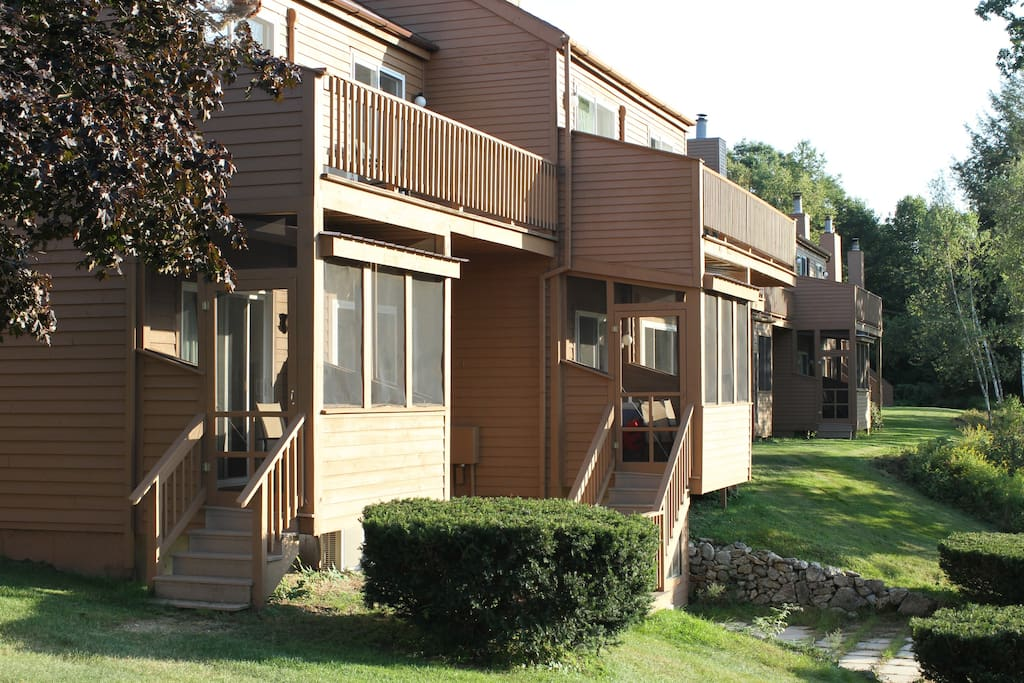 Balcony or screen porch in most units