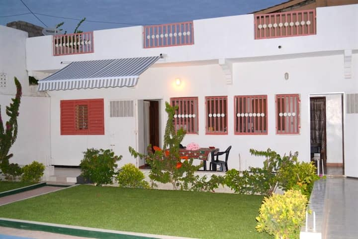 Apartment with one bedroom in M'bour, with shared pool, enclosed garden and WiFi - 2 km from the beach