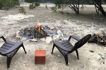 Firepit and chairs to kick back and enjoy nature