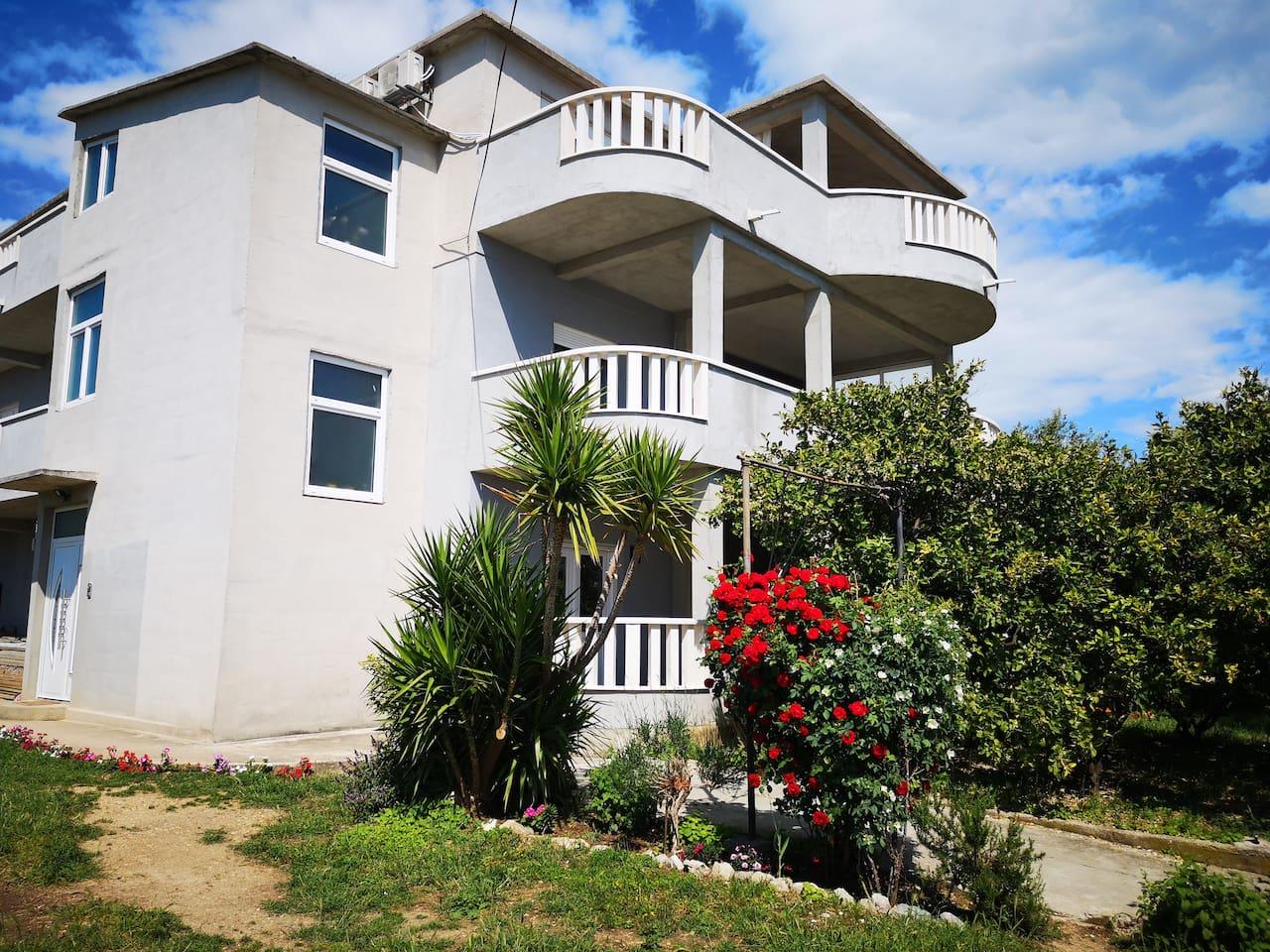 Property Building, enterence, garden
