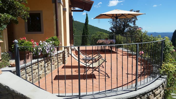 Tuscan apartment with exting view!