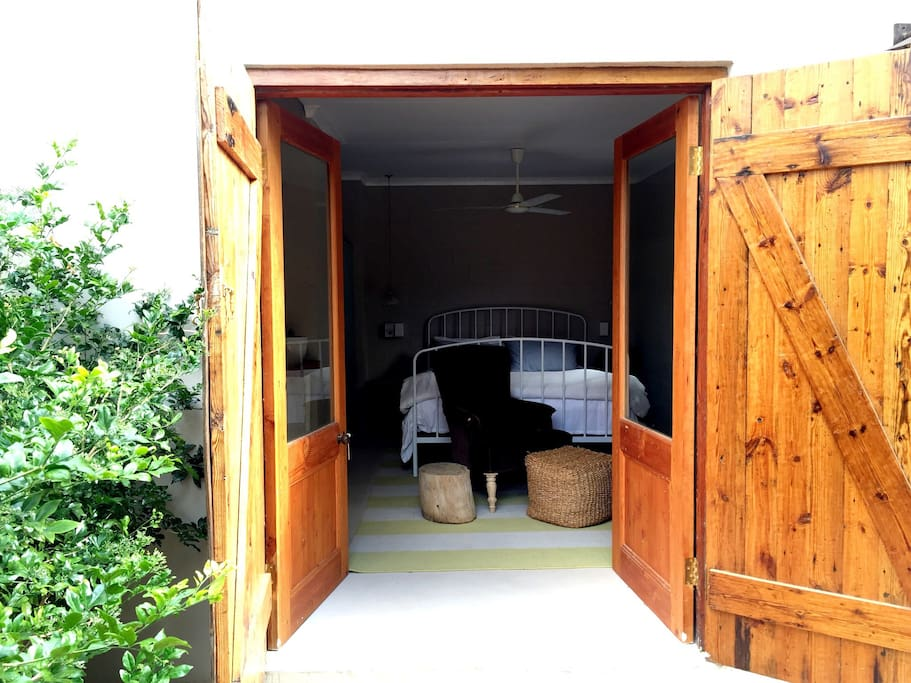 Main entrance to the cottage... Beautiful views back into the garden and private courtyard.