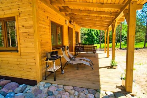 Drewniany domek - las, rzeka i relax