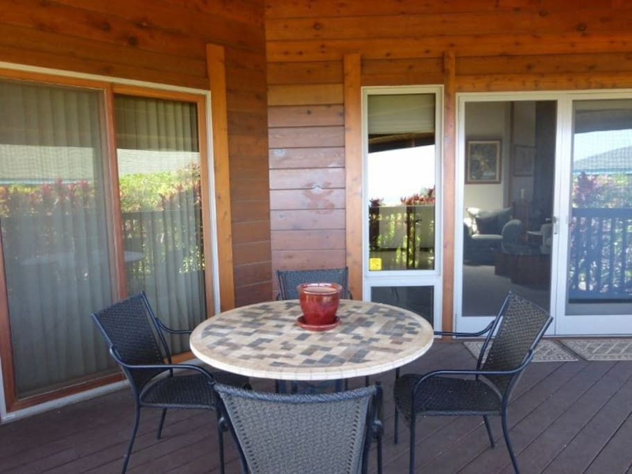 Enjoy the lanai for the scenic vistas and a cup of coffee or glass of wine