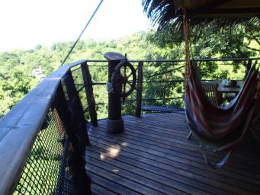 terrasse cabane des Pirates