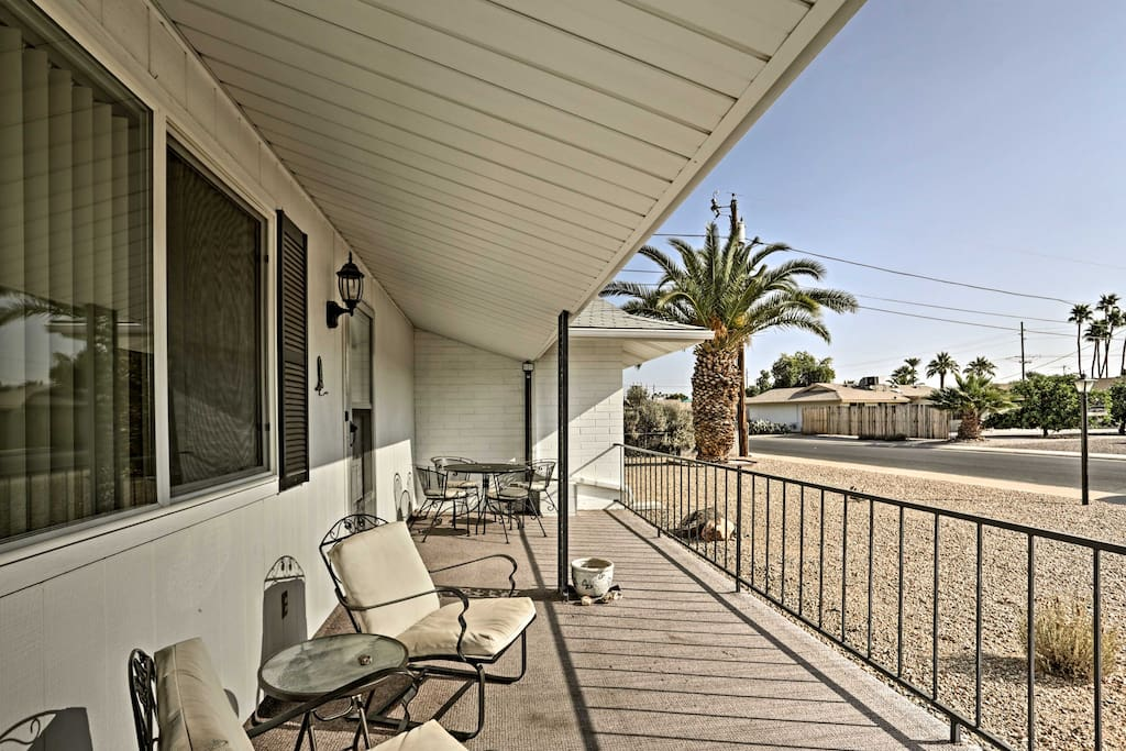Greet the morning on your private front porch with a cup of jo and scenic Arizona views.