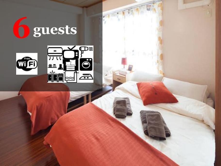Up to 6 guests can stay