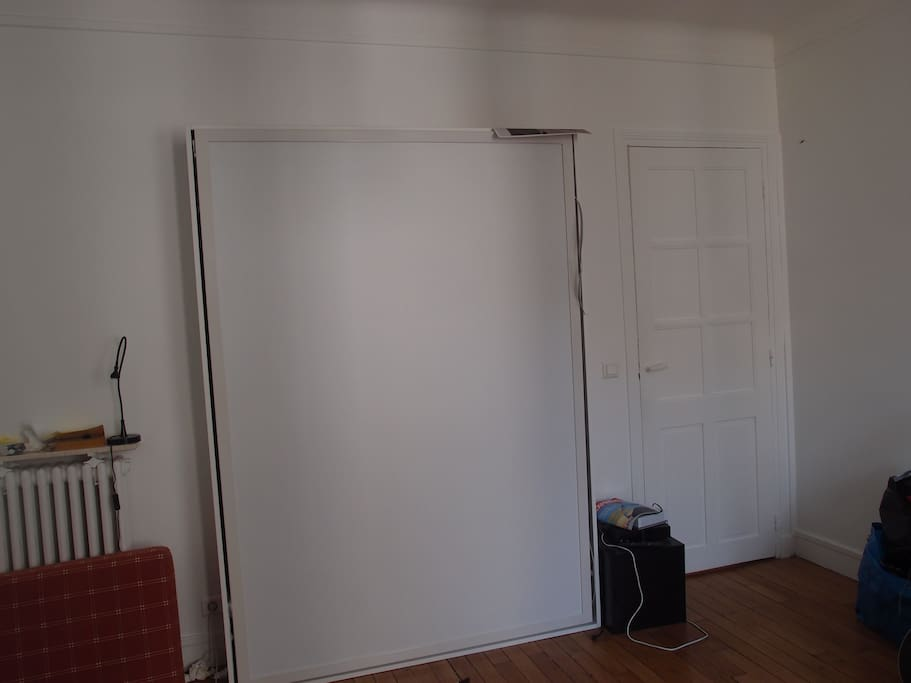 Murphy bed in the living room
