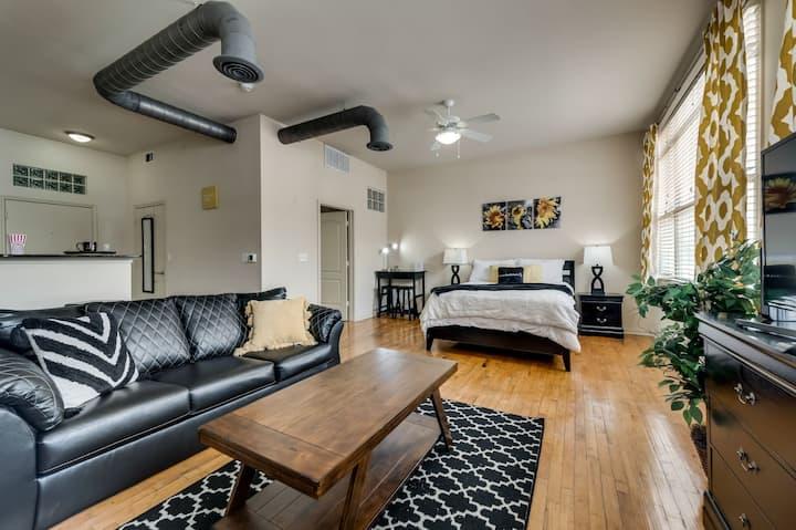 Luxurious Uptown Loft 5min from AA Center