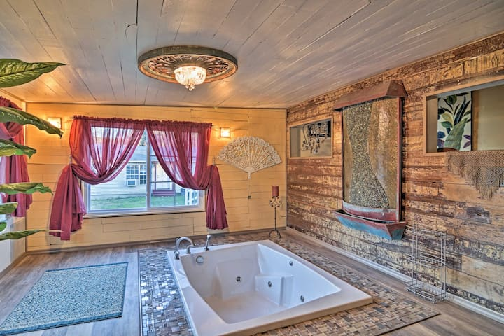 The communal bathhouse truly makes this property one of a kind.