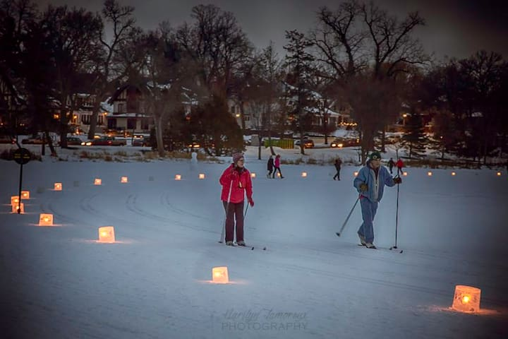 At lake of the isles The loppet festival will be going on a block away.