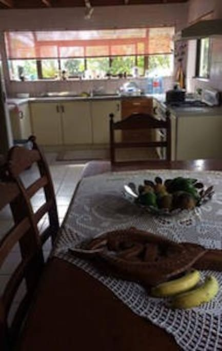 Our dining area where we serve tropical breakfast