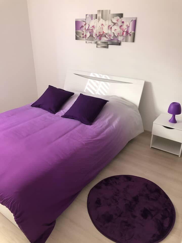 Chambre privative de 12 m2 avec salle de bain
